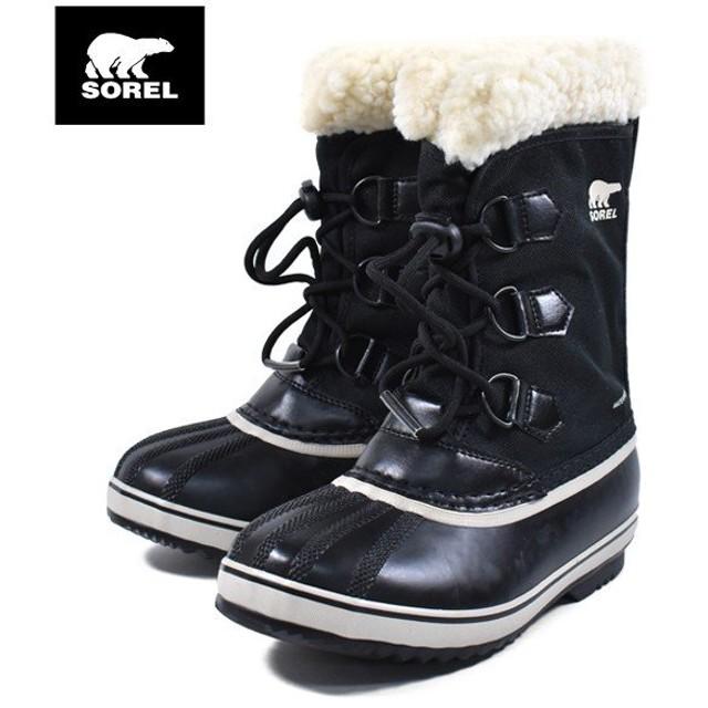 キッズ ブーツ SOREL ソレル NY1962-010 YOUTH PAC NYLON GG3 K23