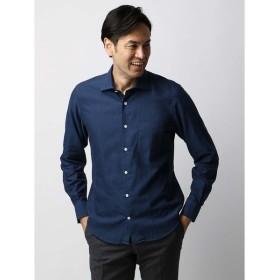 カジュアルシャツ/メンズ/ETONNE/製品洗い インディゴスラブワイドカラーシャツ/Fabric by ALBIATE/ インディゴ