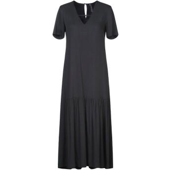 《セール開催中》MANILA GRACE レディース 7分丈ワンピース・ドレス ブラック 40 レーヨン 100%