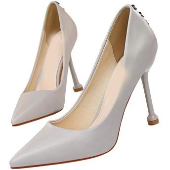 [ZJHZ] ハイヒール パンプス 10センチヒール パンプス グレー ハイヒール 赤 24.5cm 黄色 ヒール 靴 ピンヒール パンプス ハイヒール 大きいサイズ 痛くない ハイヒール 長時間 疲れない 結婚式 エナメル 美脚靴