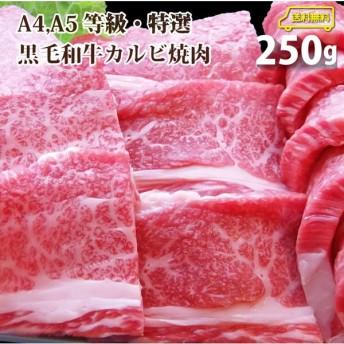 牛肉 肉 父の日 プレゼント ギフト 食品 A4,A5ランク 特選 黒毛和牛 カルビ 焼肉 250g 送料無料