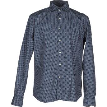 《セール開催中》XACUS メンズ シャツ ブルー 39 コットン 100%