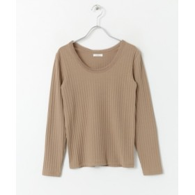 ITEMS(アイテムズ) トップス Tシャツ・カットソー チュールパイピングロングTシャツ
