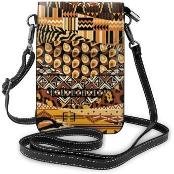 アフリカンスタイルのパッチワーク 熱い人気 女性の十代の女の子のための取り外し可能なストラップ付きの軽量小型携帯電話の財布 One Size