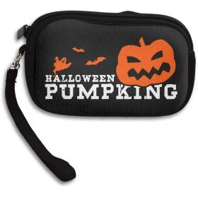 Halloween Pumpking 可愛い財布 小銭入れ ミニ財布 コンパクト ジップ ポーチ 多機能 カード入れ シンプル 携帯便利 ファスナー