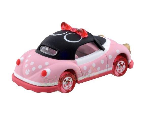 【真愛日本】米妮 米老鼠 迪士尼 tomica takara 模型小車 4904810144755 TOMY車-米妮粉紅車