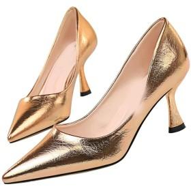 [ZJHZ] ハイヒール パンプス 10センチヒール 24.5cm パンプス ハイヒール 赤 黄色 ヒール 靴 ピンヒール パンプス ハイヒール 大きいサイズ 痛くない ハイヒール 長時間 疲れない 結婚式 シャンパン エナメル 美脚靴