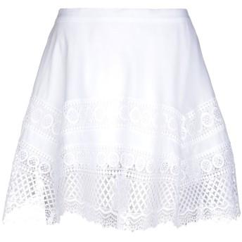 《セール開催中》CHARO RUIZ IBIZA レディース ミニスカート ホワイト M コットン 90% / ポリエステル 10%