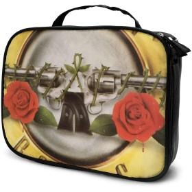 ガンズ・アンド・ローゼズ Guns N Roses 7 化粧品収納メイクポーチ トラベルポーチ 化粧ポーチ ーバッグ バスルームポーチ 小物 多機能 収納 バッグインバッグ 大容量 出張 旅行グッズ