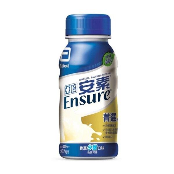 亞培 安素菁選 香草少甜 隨身瓶237ml X24入/箱◆德瑞健康家◆