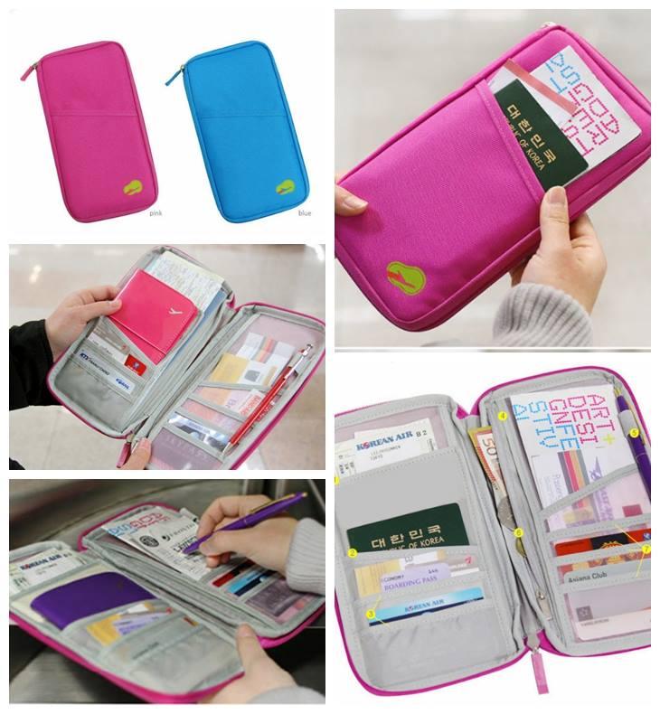 韓版多功能護照包