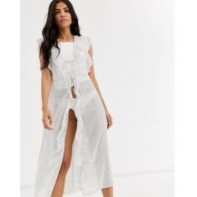 コットンオン Cotton:On レディース パーティードレス ワンピース・ドレス Cotton On Body ruffle gown in spot print