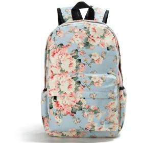 女性の女性旅行、1037cのための女性の花のブックバッグのキャンバスのバックパックのランドセル