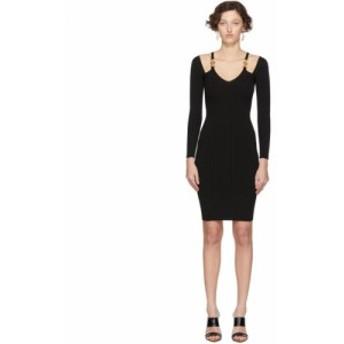 ヴェルサーチ Versace レディース ワンピース ワンピース・ドレス Black Knit Medusa Dress