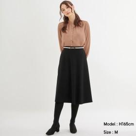 (GU)ポンチフレアスカート BLACK XL
