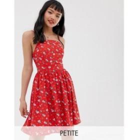グラマラス Glamorous Petite レディース ワンピース キャミワンピ ワンピース・ドレス cami dress with tie back in ditsy floral