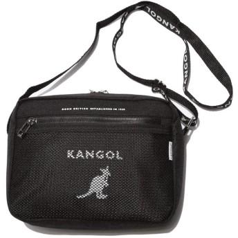 (カンゴール) KANGOL スクエア メッシュポケット ショルダーバッグ [KGSABG00076]ブラック / -