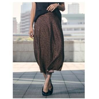 LAUTREAMONT(ロートレアモン)ドットライクな小さめレオパードプリントスカート
