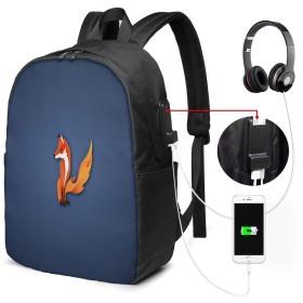 フォックス リュック バックパックリュックサック USB充電ポート付き イヤホン穴付き 大容量 PCバッグ レジャーバッグ 旅行カバン 登山リュック ビジネスリュック ユニセックス おしゃれ 人気