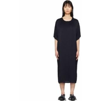 ラクエル アレグラ Raquel Allegra レディース ワンピース Tシャツワンピース ワンピース・ドレス Navy Satin T-Shirt Dress
