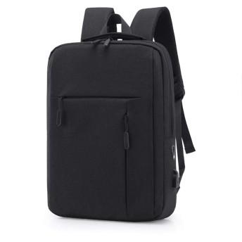 ビジネスリュック メンズ 【ブラック】 大容量 多機能 耐衝撃 撥水 USB充電ポート 盗難防止 通勤 出張 リュックサック