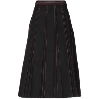 《セール開催中》VALENTINO レディース 7分丈スカート ブラック 40 コットン 100%