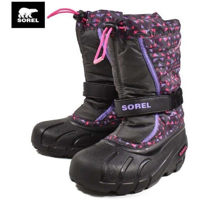 キッズ ブーツ SOREL ソレル NY3503-089 YOUTH FLURRY PRINT GG3 K23