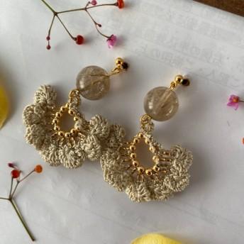 送料無料☆絹糸と天然石のアクセサリー