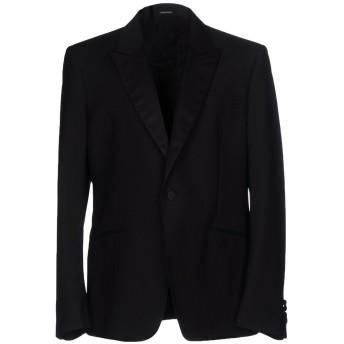 《セール開催中》ALEXANDER MCQUEEN メンズ テーラードジャケット ブラック 52 ウール 84% / モヘヤ 16%