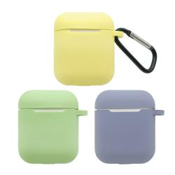 [Adpe] AirPods 純色矽膠保護套 附扣環