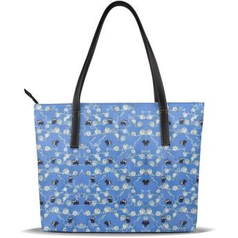 バッグ トートバッグ かわいい 猫 手提げバッグ ショルダーバッグ PUレザー ハンドバッグ レディース 大容量 防水 A4対応 軽量 ビジネス 通勤 通学 誕生日プレゼント