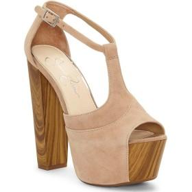 [ジェシカシンプソン] レディース サンダル Dany Suede Wood Platform Sandals [並行輸入品]