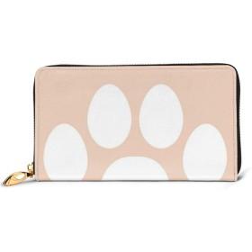 長財布 財布 レディース 大容量 本革 かわいい 猫 ネコ ラウンドファスナー 小銭入れ コインケース カード12枚収納