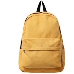 リュック バックパック メンズ 大容量 キャンバス・カレッジスクールバッグラップトップ バックパック 多機能 カジュアル 、大容量 トラベル ショッピングバッグ カジュアル 日常 旅行 (Color : Yellow, Size : 11 inches)