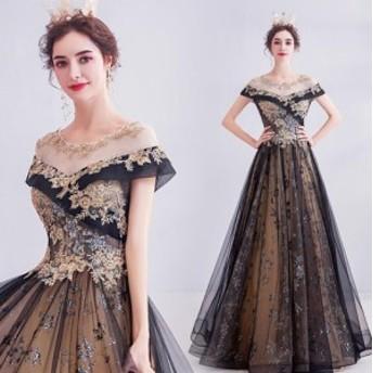 優雅 上品 フォマールドレス Seet style フェミニン パーティドレス お呼ばれドレス 発表会 演奏会 ロングドレス 編み上げ