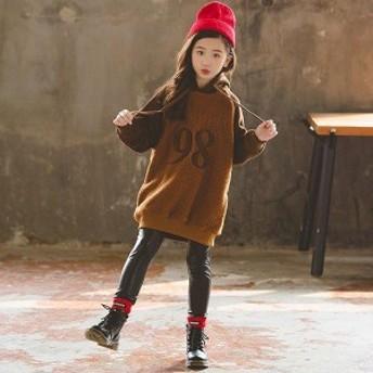 韓国子ども服 キッズ 長袖 女の子 パーカー 子供服 秋冬 トップス ファッション ゆったり ふわふわ 120 130 140 150 160 170cm