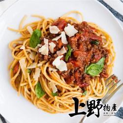 【上野物產】黑胡椒肉醬義大利麵 x12包(麵體+醬料包 310g土10%/包) (義大利麵 義式美食 鮭魚 團購 美食)