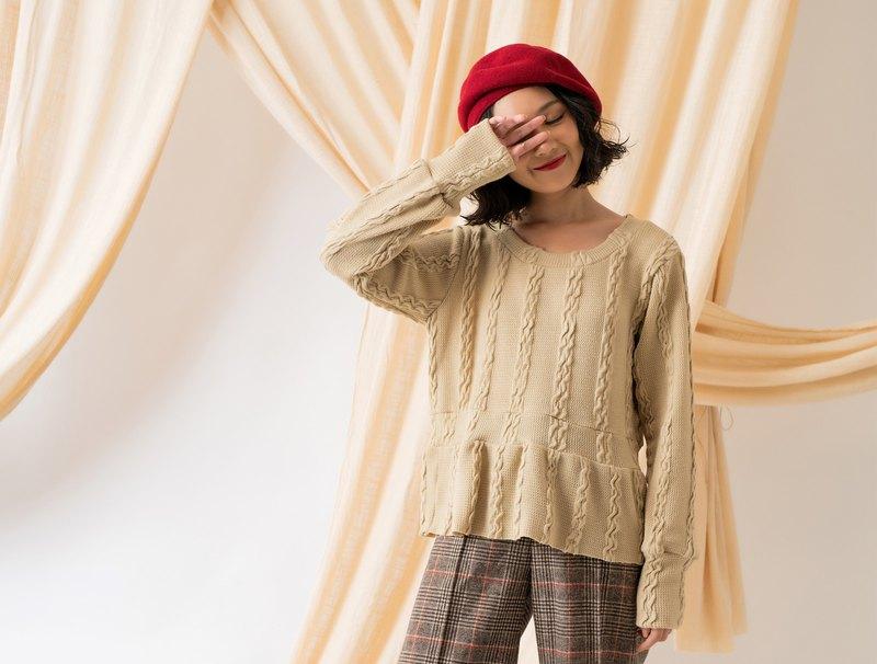 回憶時光 針織長袖上衣Vintage Style Knit Top