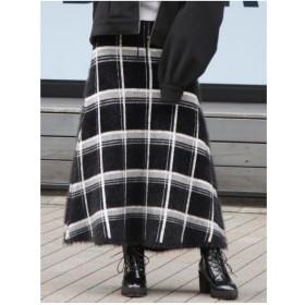 dazzlin ふわふわニットマキシスカート(ブラック)