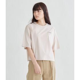 SIPULI コットンハイゲージ天竺 リラックスロゴワイドTシャツ Tシャツ・カットソー,ピンク(12)
