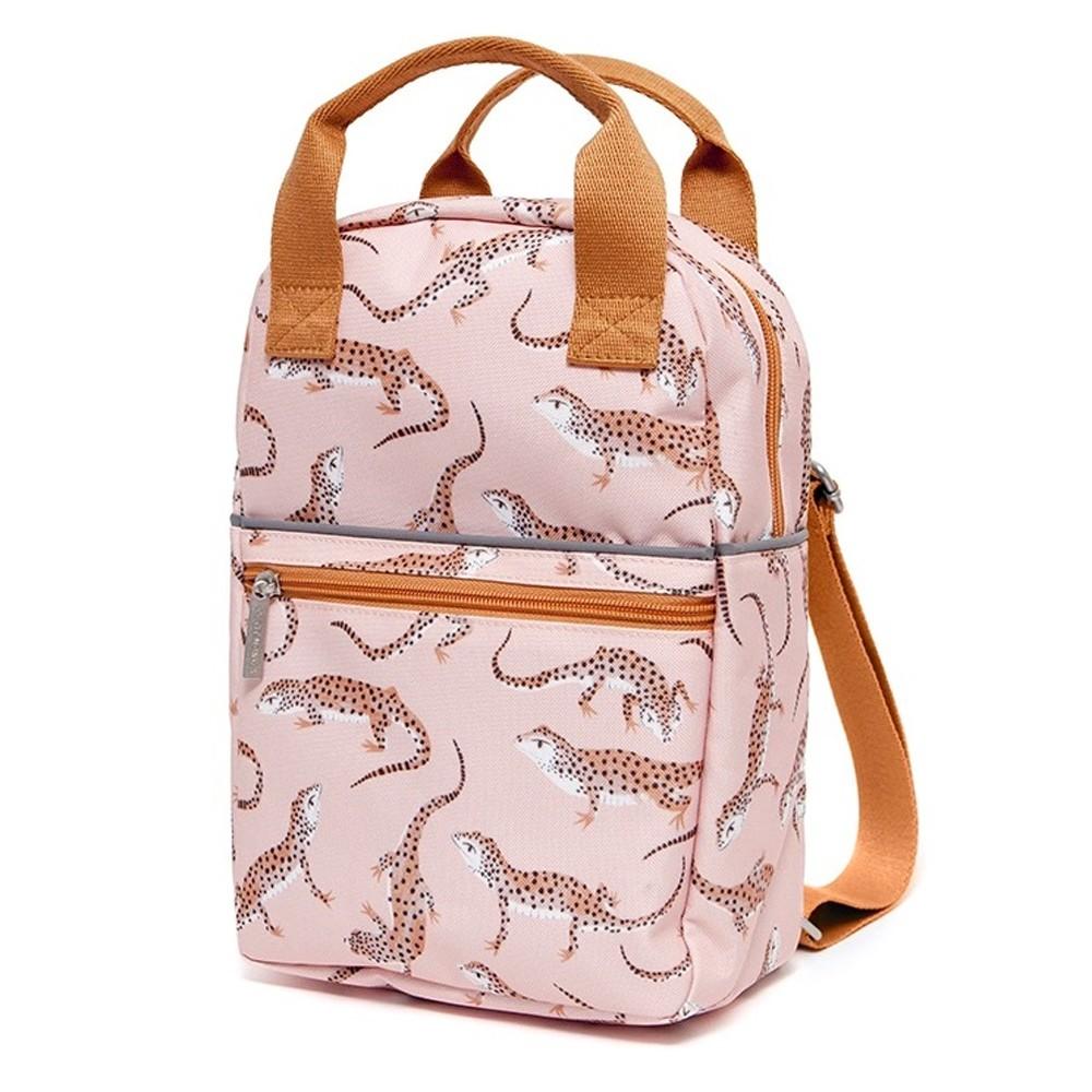 荷蘭Petit Monkey 環保粉紅豹紋擬蜥小童背包-L號