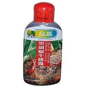 品高 黑胡椒牛排醬 300g【康鄰超市】