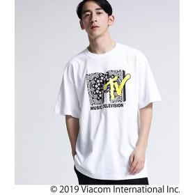 <tk. TAKEO KIKUCHI/ティーケー タケオキクチ> MTV × tk. TAKEO KIKUCHI バンダナロゴTシャツ(2001514666) シロ【三越・伊勢丹/公式】