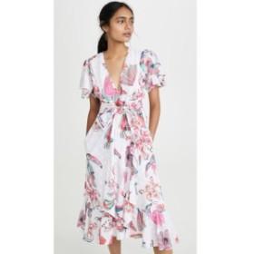 バンジャナン Banjanan レディース ワンピース ワンピース・ドレス Palak Dress Birdie Print Bleached White