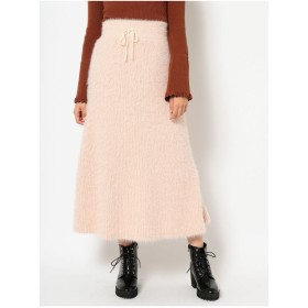 dazzlin ふわふわニットマキシスカート(ピンク)