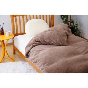 京都西川 もこもこ シープ調 あったか 掛け布団カバー シングル 毛布とカバーの1枚2役 ふわもこ (ココア)