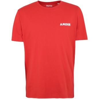《セール開催中》PALETTE COLORFUL GOODS メンズ T シャツ レッド S オーガニックコットン 100%