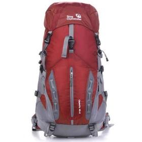 XUNHANG バックパック撥水ナイロン登山旅行キャンプ ハイキング トレイル レジャー スポーツ多機能ショルダー荷物コンピュータ バッグ ニュートラル屋外での使用に適しています黄/緑/赤 (色 : レッド)