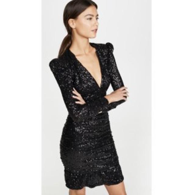 レベッカ ヴァランス Rebecca Vallance レディース ワンピース ミニ丈 ワンピース・ドレス Mona Ruched Sequin Mini Dress Black