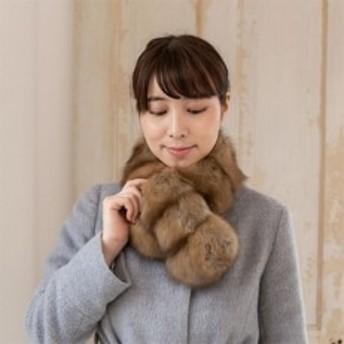 高級毛皮 ロシアンセーブル&ヌートリアダブルフェースマフラー ワイルド